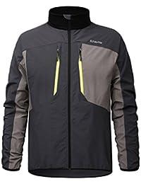 6e28945b55 SUKUTU Mens Softshell Cycling Jacket Reflective Waterproof Casual  Windbreaker Coat Outdoor Sportswear SU006