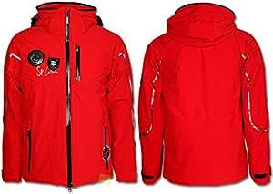 SPORTALM Guide sans Veste de ski fourrure rouge, Rouge