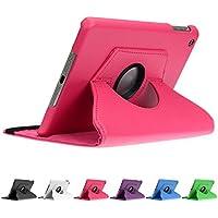 doupi 360° Deluxe finta pelle Casi (pink) per Apple iPad mini 1 2 3 Retina Display Cover Case 360 gradi Etui protezione Busta Stare in piedi Custodia protettiva pink