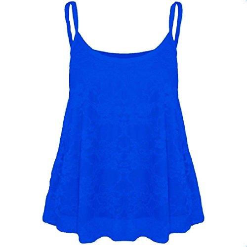 Generic - Débardeur - Sans Manche - Femme Multicolore Bigarré Taille Unique Bleu Marine