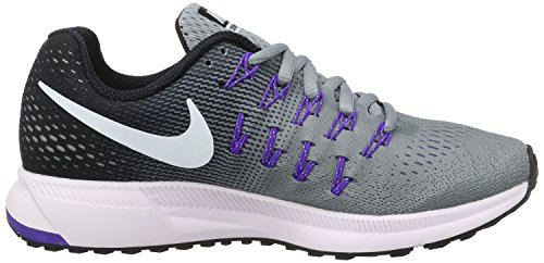 Nike Wmns Air Zoom Pegasus 33, chaussure de sport femme Gris (Stealth/Black/Fierce Purple/White)