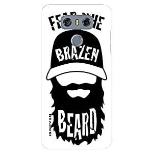 iSweven Fear The Beard design printed matte finish back case cover for LG G6
