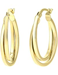 Citerna SIL1817Y Women's Creole Earrings Yellow Gold