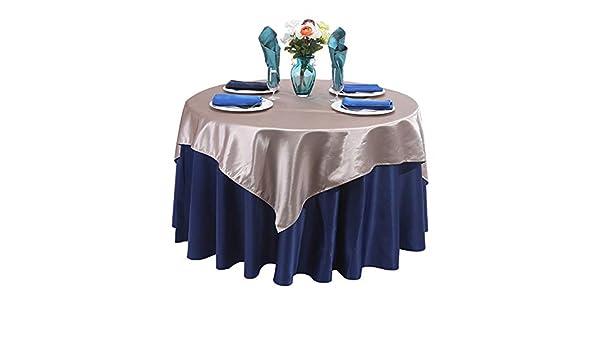 Waopinm Tischdecke, einfarbig, rund, Dekoration für Zuhause