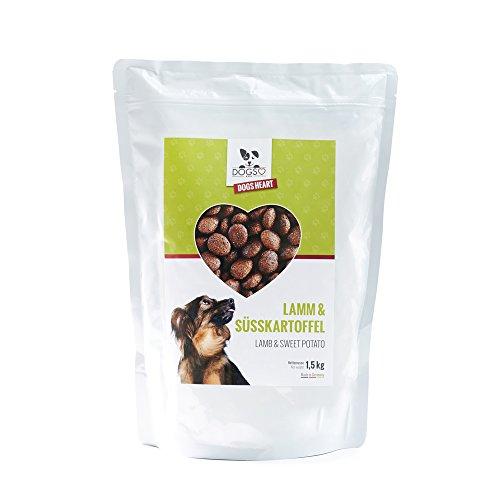 DOGS-HEART Lamm & Süsskartoffel 1,5 kg - Getreidefreies Hundefutter mit hohem Fleischanteil