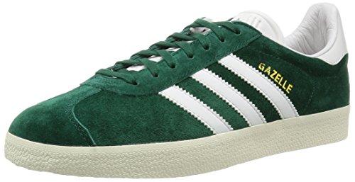 adidas Gazelle, Baskets Basses Mixte Adulte Green (Collegiate Green/Vintage White/Gold Met.)