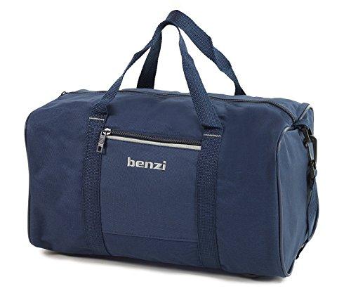Benzi Reisetasche Ryanair Kompatibel Zweite Hand Gepäck 35 x 20 x 20cm - Marineblau/Weiß, S Marineblau/Weiß