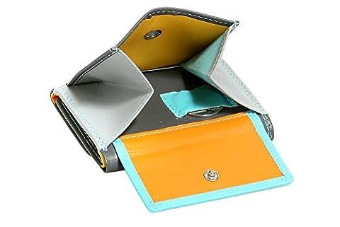 Petit Portefeuille pour homme et femme format portrait coloré LEAS, cuir véritable, multicolore -