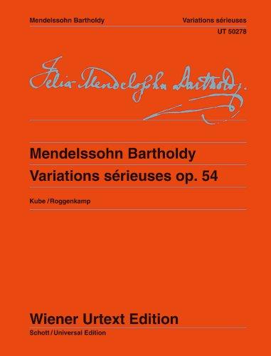 Variations sérieuses - Wiener Urtext Edition - piano - ( UT 50278 )