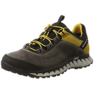 AKU Men's CLIMATICA Suede GTX Outdoor Fitness Shoes, Grey (Antracite/Yellow 168) 11 UK