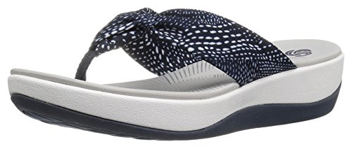 clarks-womens-arla-glison-flip-flop-navy-white-dots-fabric-12-m-us