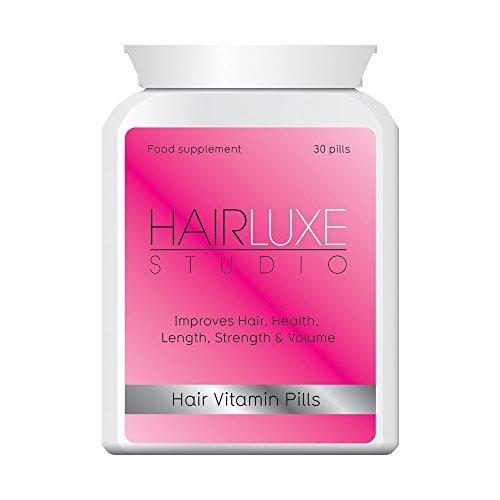 HAIR LUXE HAIR STUDIO PILULES CHEVEUX EN VITAMINE - CROISSANCE épaisse chevelure PLUS AUCUNE PROLONGATION