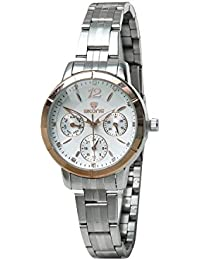 Skone 7318-1 Chronograph White Dial Stainless Steel Strap Wrist Watch / Casual Watch - For Women