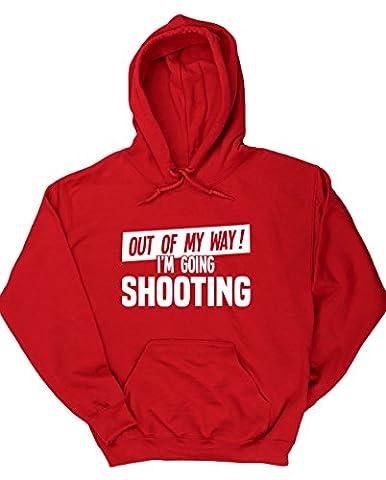 HippoWarehouse - Sweat-shirt à capuche - Homme - rouge - Large