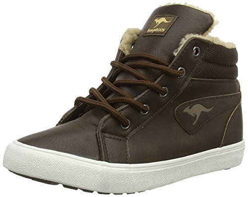 KangaROOS Unisex-Kinder KaVu I High-Top, Braun (dk Brown/sand 343), 37 EU