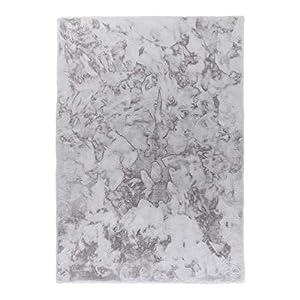 Schöner Wohnen Soft Shaggy Teppich Tender - Farben: Weiß, Silber, Grau, Anthrazit, Caramel   Ultra weicher Flauschteppich   bei 30° waschbar, Farbe:Silber, Größe:120 x 180 cm