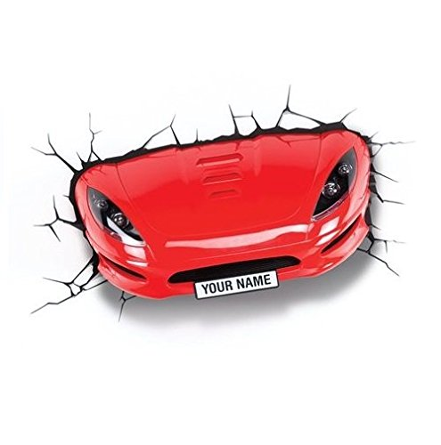 3D Light FX Applique murale Voiture de sport Rouge