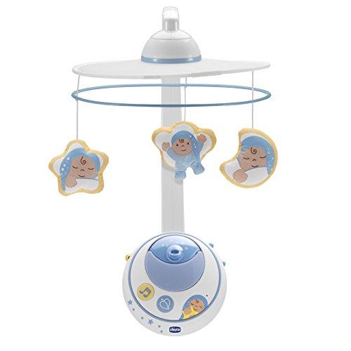 Chicco - Carrusel con efecto de luces y sonidos, mándo a distancia, color azul
