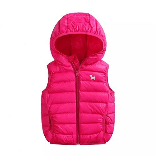 Hankyky Unisex Baby Mädchen Jungen Weste Steppweste Ärmellos Kapuzenpullover Baby Jacken Tops Winter Babykleidung (2-6Jahre) (4 Jahre, (Date Kostüme Double)