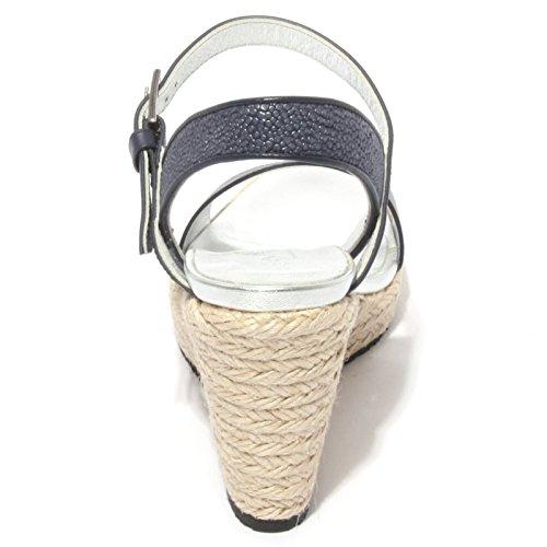 B0628 sandalo donna HOGAN scarpa zeppa blu chiaro shoes women Blu chiaro