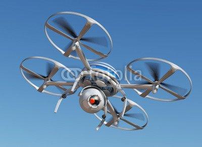 "Alu-Dibond 120 x 90 cm: ""Surveillance drone flying"", Alu-Dibond"