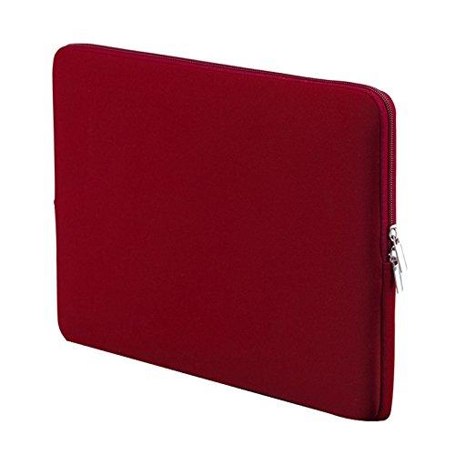 Semoic 13 Zoll Koreanischen Stil Tragbaren Rei?Verschluss Weichen ?rmel Laptop Tasche Für Notebook-Computer Fall Für Air Pro Retina-Weinrot