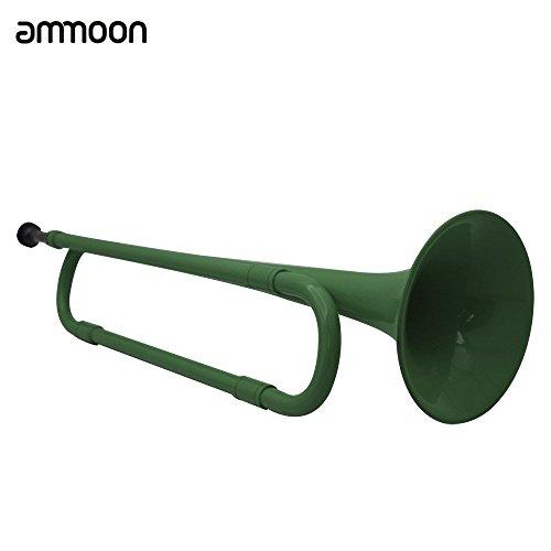 ammoon B Flat Bugle Kavallerie Trompete umweltsmäßig freundlich Kunststoff mit Mundstück für Schüler-Band (Grün)