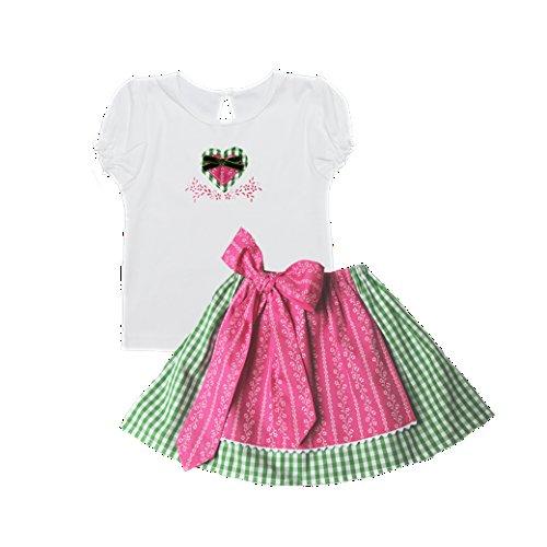 Märchenwerkstatt Babydirndl 2-teilig mit Shirt und Rock Mein erstes Dirndl Rapunzel Größe 12-24 Monate