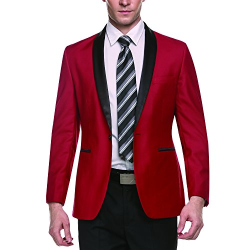 Coofandy Mens Suits Jacket Slim Fit Stylish Casual Blazer One-Button Coat
