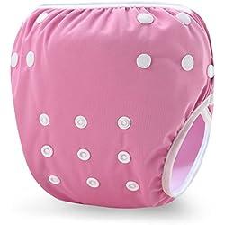Storeofbaby Pañales de baño para bebés Troncos cortos impermeables reutilizables para pequeños nadadores 0-3 años