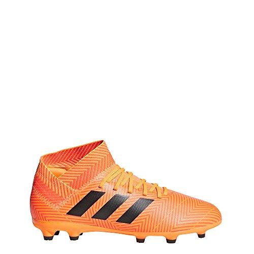 Adidas Kinder nemeziz 18.3Ground Stollen Fußball Stiefel Fußballschuh (Hartböden, Kind, Unisex, Orange, bedruckt) 38 2/3 EU (UK 5.5) (Adidas Fußball Schuhe Messi Kinder)