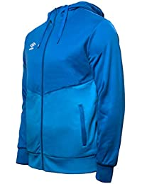 UMBRO Core Training Hooded FZ Jacket Chaqueta con Capucha, Hombre, Azul, L