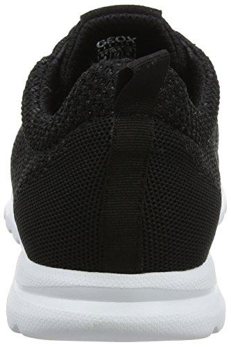 Geox Herren U Damian D Sneaker Schwarz (Black)