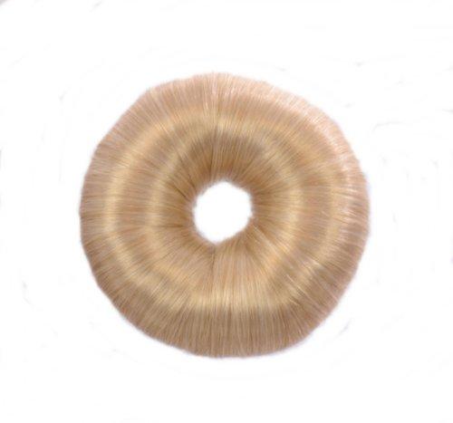 Hell Blondes Haar DoNut   Weiche Hochsteck Frisur mit flexiblem Haar Ring   vielfach verwendbarer Haarstyler   Haarknoten Creator