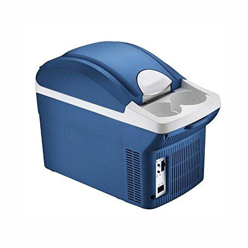 HuanLeBao thermoelektrische Kühlbox 8 Liter anschlussfertig für den PKW, 12-Volt Kühlen und Heiz-Funktion tragbarer Mini-Kühlschrank , Blue , 8L