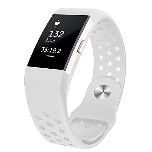 Fitbit Charge 2 Armband, WZE Soft Silikon Einstellbare Ersatz Sportband Bänder für Fitbit Charge 2 Fitness Wristband für Männer Frauen Girl Boy (Kids Ersatz-uhrenarmband)