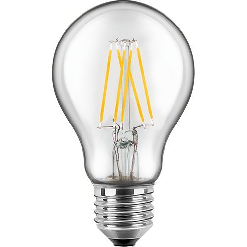 Blulaxa LED Filament Glühfaden Lampe Birnenform RETRO klar, 300°, E27, warmweiß, Glas, 7W EEK: A++