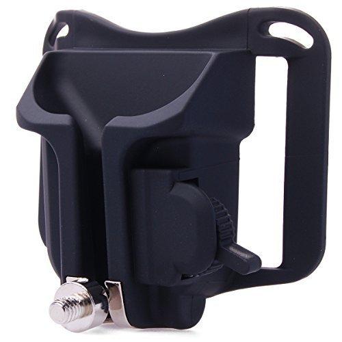 Shoot® Kamera Gürtelclip Holster mit Schnellwechselplatte Kamerahalterung Camera Belt Button Kamera Holster