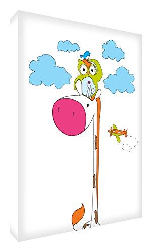 Feel Good Art GIROWL1216–12it Imagen Sobre Lienzo de Pared, Dibujo Signor Jirafa...