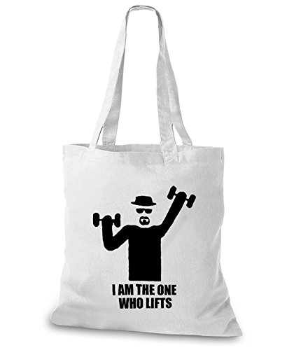 StyloBags Jutebeutel / Tasche I am the one who lifts Weiß