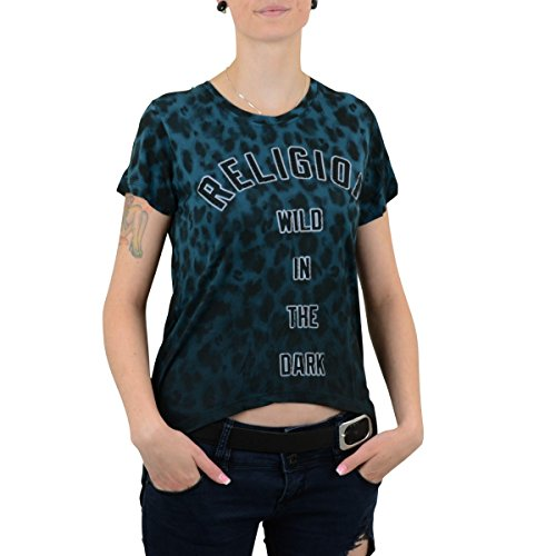 Religion Clothing Damen T-Shirt Wild In The Night petrol schwarz - fällt normal aus Petrol Schwarz