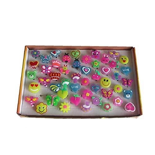 Ruijanjy 50 PC LED-Finger-Licht-Glühen-Partei-Bevorzugungen Leuchten Spielzeug Floureszierende Party Supplies Flashing Bumpy Ringe Mit Knopfbatterie - Zufällige Farbe