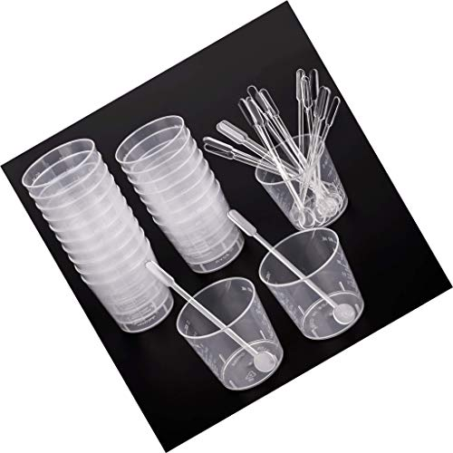 Lvcky - Vasos graduados plástico Polipropileno Transparente