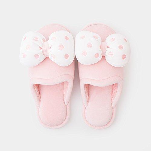 DogHaccd pantofole,Home caldo cotone pantofole spessa femmina scarpe eleganti home inverno incantevole SCARPE Indoor Rosa3