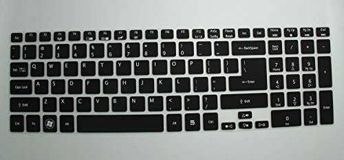 Saco Keyboard Silicon Protector Cover for Acer Aspire E1-510 E1-510P ES1-512 E5-511 ES1-521 E5-511P E5-521 ES1-571 E5-521G E1-522 E1-530 E5-531 E1-532 E1-532P E5-551 E5-551G E1-570 E5-571 E5-571G E5-571P E5-571PG E1-572 E1-572P E1-731 E1-771 E5-721 E5-731 E5-771 E5-771G V5-561 V5-561PG V5-561G V5-561P V3-571 V3-571G V15 V3-572 V3-572G V3-572P V3-572PG V3-772G V3-771 V3-771G V3-551 V3-551G V3-731 V3-731G VN7-791G series Laptops – (Black with Clear)  available at amazon for Rs.300