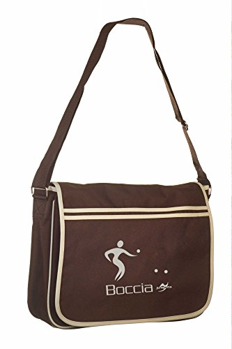 Retro Messenger Bag BG71 gold/schwarz Boccia