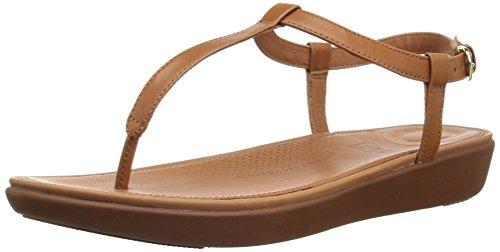 Fitflop Damen Tia Toe-Thong' Peeptoe Sandalen, Brown (Caramel 098), 43 EU