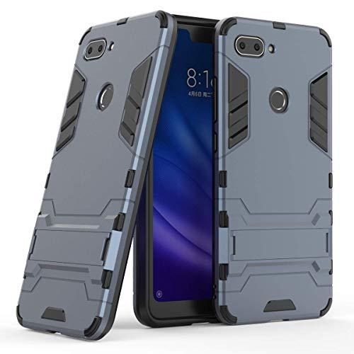 Funda Xiaomi Mi 8 Lite,Case,Estuche híbrido Robusto de Doble Capa [a Prueba de Golpes] Xiaomi Mi 8 Lite[Compatible con Protector de Pantalla] -Azul Oscuro