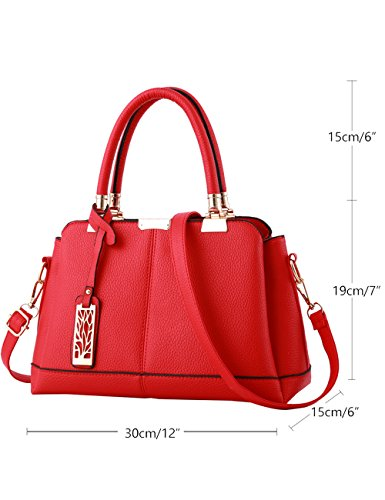 Menschwear Ladies Pu Borse Ladies Handbag Black Handbag School Ladies Handbags Pink Red