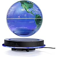 Globo magnético de la levitación, bola flotante de 8 '' que gira la bola antigravedad LED iluminó la tierra del mapa del mundo para la decoración del hogar de la oficina de escritorio (8' ')